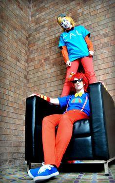 Trickster Dirk Strider & Lil Cal cosplay - Homestuck