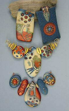 Stunning #polymerclay pieces by Julie Picarello. Absolutely beautiful.