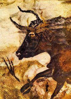 Pinturas rupestres de Lascaux (c.150000 a.C.), detalhe. Artista desconhecido. Pigmento sobre rocha. Lascaux, Dordonha, França Book: FARTHING, Stephen. This is Art. London: Quintessence, 2010.