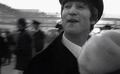 ♡♥John Lennon makes a funny retarded face! - click on GIF♥♡