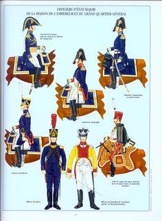 """Ufficiali di Stato maggiore della """"maison dell'imperatore"""""""