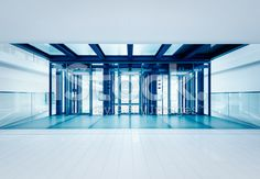 Modern business hall lifts royalty-free stock photo