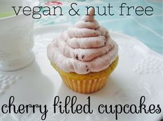 My bakery's recipe for the perfect summer cupcake. No dairy, eggs, peanuts, tree nuts. Light & sweet!