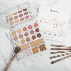 Carli Bybel x BH Cosmetics Deluxe Edition Make Up Palette, Eye Palette, Eyeshadow Palette, Skin Makeup, Beauty Makeup, Makeup Stuff, Huda Beauty, Nude Make Up, Carli Bybel