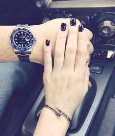 Rolex watch and Cartier bracelet #relationshipgoals #couplegoals