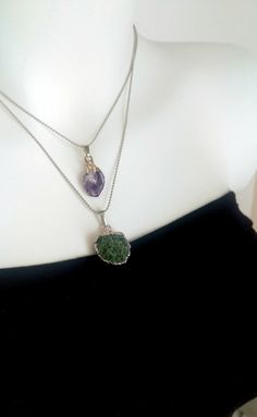 Excited to share the latest addition to my #etsy shop: Natural Variscite Necklace Amethyst Necklace Silver Electroplated Gemstone Necklace Perfect Gift Valentine's Day Pendant Necklace #jewelry #necklace #christmas #amethyst #amethystnecklace #gemstonenecklace #gemstonependant #variscitenecklace #purplenecklace http://etsy.me/2ysDRV2