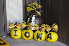 my IOWA HAWKEYE FOOTBALL pumpkins that everyone seemed to love on Hawkeye Heaven's post! :)
