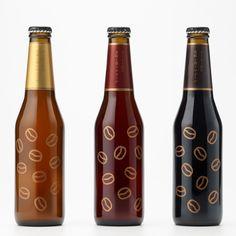 Coffee Beer bottle stickers by Nendo