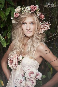 #vintage, #ethereal, #whimsical, #dreamy, florals, #flowers, accessory, silk, lace, photo prop, dress accessory, #suebryce, #emilysoto, #amandadiaz, #headpiece, floral crown, floral clip ons, #fashion photography, photo prop, #wedding