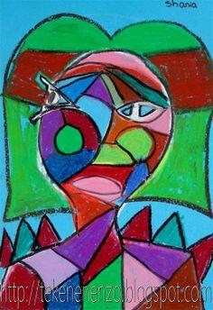 Tekenen en zo: Portret in de stijl van Picasso
