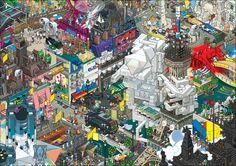 Paris #PixelArt by Pixorama