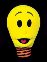 Special Character Puppets - Burnie Bright light bulb blacklight puppet