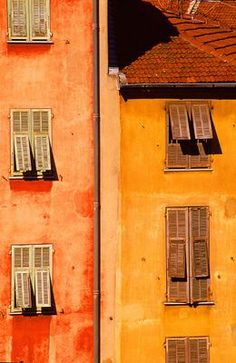 Buy French Windows and Shutters - x - Peel and Stick Wall Decal by Wallmon at Wish - Shopping Made Fun French Windows, Yellow Houses, Orange Aesthetic, Orange Crush, Orange Is The New Black, Shades Of Yellow, Orange Color, Rust Orange, Orange Zest