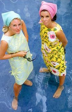 Mid 1960's We All wore a Sack Dress and a Triangle Head Bandana