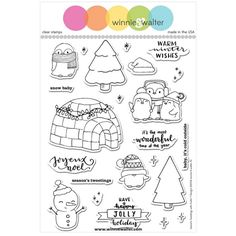 Winnie and Walter SEASON'S TWEETINGS With Evelin T Design Clear Stamps WW071