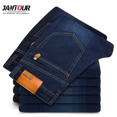2018 New Autumn Winter Jeans Men High Quality Famous Brand Denim trousers soft mens pants men's fashion Large Big size 40 42 44 Men's Fashion, Fashion Pants, High Jeans, Slim Jeans, Skinny Jeans, Jean Moda, Elastic Jeans, Fall Jeans, Summer Jeans