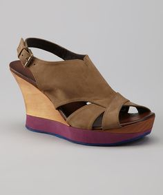 Take a look at this Audley Nobuch Rosewood Velia Wedge Sandal on zulily today!