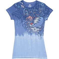 Dead Flowers Tie-Dye Juniors Long Length T-Shirt