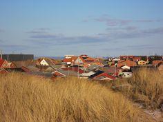 Hvide Sande hinter der Düne #Dänemark #HvideSande #Nordsee