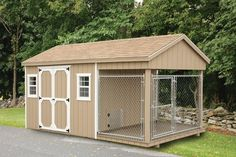 Horse lean to on pinterest 63 pins on horse shelter run for Dog kennel shed combo plans