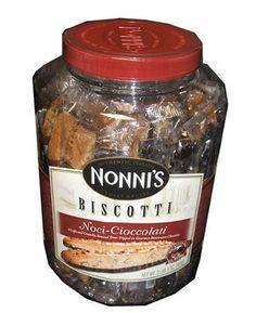 Nonni's Biscotti, Noci-cioccolati, a Light and Crunchy Almond Treat Dipped in Gourmet Chocolate-(2pound/3oz Tub) Nonni's Food Company Inc.,http://www.amazon.com/dp/B0015CMQNG/ref=cm_sw_r_pi_dp_yKdBtb1J3MX8PB11
