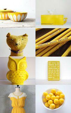 Yellow Submarine by Helene Sandberg on Etsy » Another lovely yellow treasury!