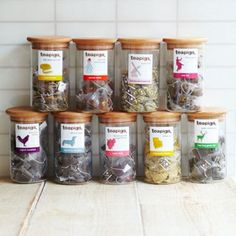 The glass jars to match the tea - fantastic!