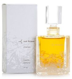 "Red Flower Champa Perfume-0.5 oz. by Red Flower. $186.00. Red Flower encourages the enjoyment of simple experiences and celebrates life through the purity and beauty of flowers.. Red flower Champa is a fruity, feminine floral. Soft and sweet with a touch of white fruit, tropical rain water and a hint of green citrus. ""Champa fragrance is as if after all these years, someone has made a perfume just for me."" -Jean Godfrey-June, Lucky magazine. A unique blend of c..."