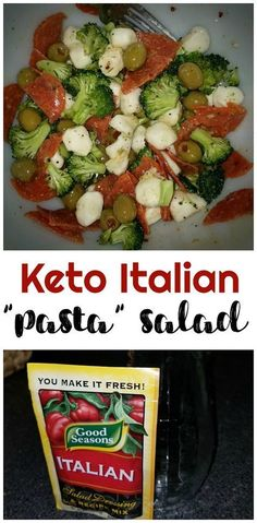 No pasta - keto italian pasta salad! Pepperonis, olives, broccoli, etc! Keto dish 12 Easy Keto Friendly Lunch Ideas…More 15 Mouth Watering Keto Side Dish Recipes Low Carb Lunch, Low Carb Diet, Carb Free Lunch, Pasta Salat, Comida Keto, Pasta Salad Italian, Italian Antipasto, Italian Chopped Salad, Antipasto Salad