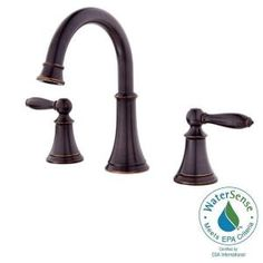 Pfister Courant 8 in. Widespread 2-Handle High-Arc Bathroom Faucet in Tuscan Bronze F-049-COYY at The Home Depot - Mobile