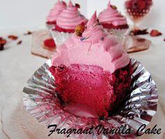 Raw Pink Velvet Cupcakes | Fragrant Vanilla Cake