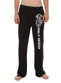 Sons Of Anarchy Men's Pajama Pants   Hot Topic $20  http://www.hottopic.com/hottopic/WhatsNew/Sons+Of+Anarchy+Menx27s+Pajama+Pants-10043102.jsp