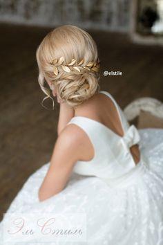 Прическа из средних волос фото. Свадебные прически на средние волосы - идеальна для свадебной укладки. Стилисты Эль Стиль помогут сделать неповторимую прическу для невесты.