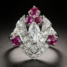 Art Deco Ruby & Diamond Ring