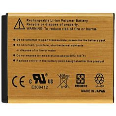 High Capacity 2450mAh Gold Battery for HTC Wildfire S G13  -  5 PCs #shoes, #jewelry, #women, #men, #hats, #watches, #belts
