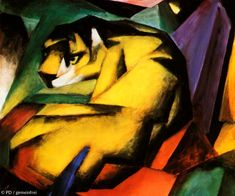 Tiger, 1912 by Franz Marc Painting Print Franz Marc, Tiger Poster, Buy Wallpaper Online, Francis Picabia, Framed Artwork, Wall Art, Embossed Wallpaper, Wassily Kandinsky, Find Art