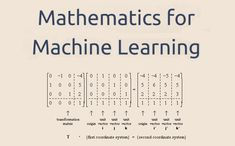 A Beginner Mathematics Book For Machine Learning. Deep Learning Book, Machine Learning Deep Learning, Data Science, Computer Science, Science Notes, Computer Tips, Machine Learning Artificial Intelligence, Big Data Technologies, Artificial Neural Network