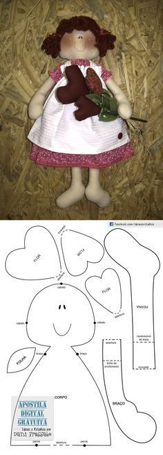 Molde Boneca Lulu                                                                                                                                                                                 Mais