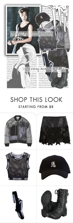 """""""Tomorrow By. BTS"""" by josi-heart ❤ liked on Polyvore featuring Oris, 3.1 Phillip Lim, BCBGMAXAZRIA, Moschino and Soda"""