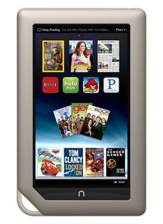 """Amazon.com : Barnes & Noble Nook Tablet 8GB Touchscreen 7"""" WiFi Tablet eBook Reader - Android - Dual-Core 1 GHz processor w/ Expandable Memory and Extra-long Battery Life, Bundle (Certified Refurbished) : Computers & Accessories"""