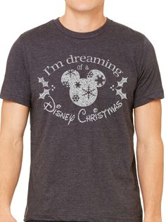 A personal favorite from my Etsy shop https://www.etsy.com/listing/473691148/mens-im-dreaming-of-a-disney-christmas