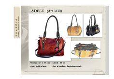 """Cartera de cuero crocco Modelo """"Adele"""" www.amarenacueros.com"""