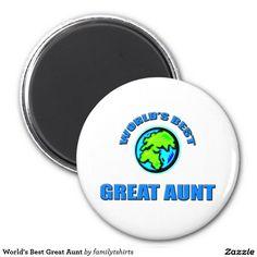 World's Best Great Aunt 2 Inch Round Magnet