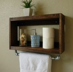 rustic modern 2 tier bathroom wall shelf with 18 towel add a little more storage to those tiny bathrooms