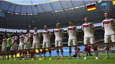 While majority of the bets are on Brazil, Argentina and Spain but the award winning football engine of EA sports has predicted Germany to become World. World Cup 2014, Fifa World Cup, Fifa 14, Gamer's Guide, World Cup Groups, Gta San Andreas, Electronic Arts, Ea Sports, Germany