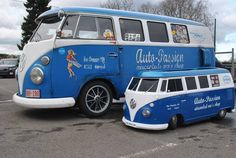 They call him mini me! Vw Camper, Campers, Wheels On The Bus, Auto Service, Car Humor, Vw Beetles, Mini Me, Volkswagen, Porsche
