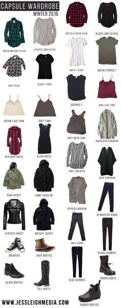 Winter Capsule Wardrobe 2016