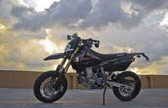 A modified street legal 2007 Suzuki DRZ-400SM supermoto
