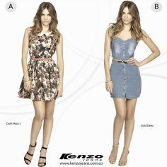 ¿Cuál sería tu elección para este fin de semana?, un look fresco y la silueta curvilínea te harán lucir con estilo y muy femenina. #KenzoJeans www.kenzojeans.com.co