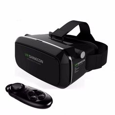 Shinecon VR 3D Glasses + Smart Bluetooth Wireless Remote